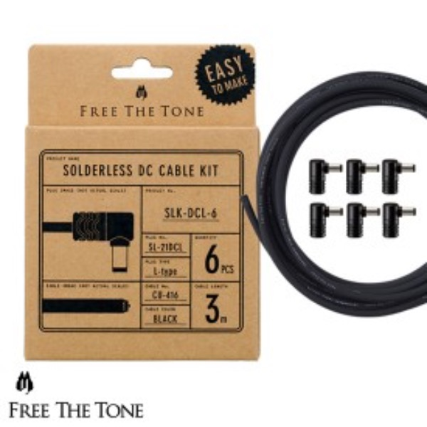 [FreeTheTone] SLK-DCL-6 Solderless DC Cable Kit (SL-21DCL 6 Plugs, CU-416 Cable 3 m)